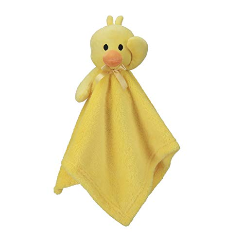 Pro Goleem Duck Security Blanket Soft Yellow Baby Lovey Unisex Lovie Gift for Newborn Toddler 15 Inch