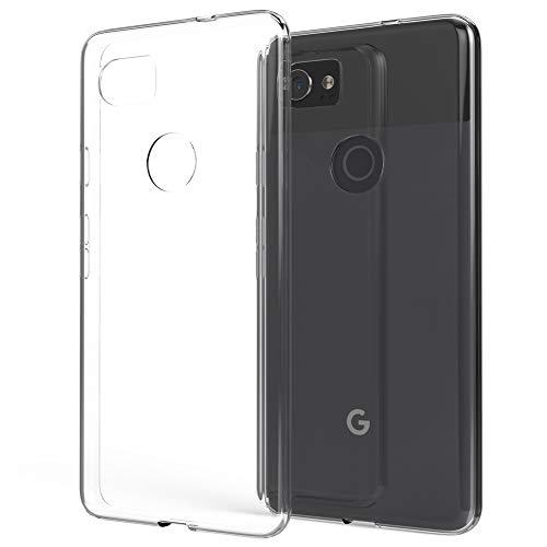 NALIA Handyhülle kompatibel mit Google Pixel 2 XL, Soft Slim TPU Silikon Hülle Cover Crystal Clear Schutz-Hülle Dünn Durchsichtig, Etui Handy-Tasche Backcover Transparent Rückseite, Bumper