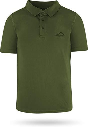 normani Sportswear Funktions-Sport Poloshirt Sporthemd für Herren mit Cooling-Material und Sonnenschutz-30+ Farbe Grün Größe 3XL