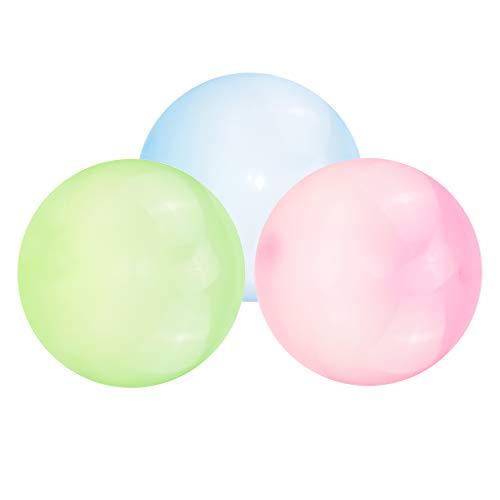 perfeclan Bola de Burbuja Firme 3PC Globo Suave Divertido Jardín Al Aire Libre Piscina Juego para Adultos Juguetes