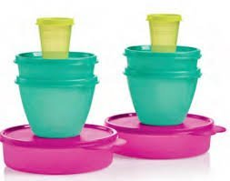 Tupperware Snack Bowls Assortment Sized Containers Set of Eight