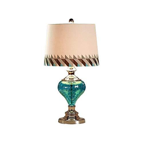 HYY-YY Tafellampen, Personality eenvoudige mediterrane Jane Europese moderne minimalistische slaapkamer Lights bedlampje, Creative Fashion Blauw Glas tafellampen, Reading Night Light