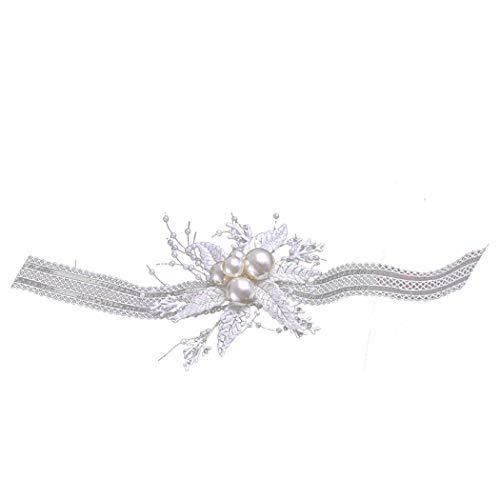 ZOYLINK Bruids Haarband Doek Handgemaakte Mode Bruiloft Hoofdstuk Haaraccessoires