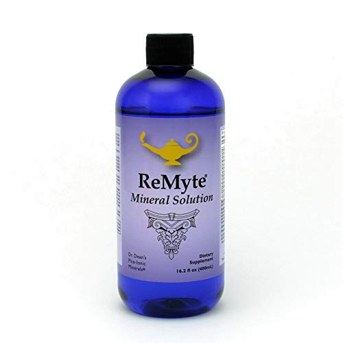 RnA ReSet - ReMyte Electrolyte Mineral Solution, Liquid Multi Mineral, 12 Minerals Including Iodine, Selenium, Zinc, Magnesium, Boron, 480 ml - by Dr. Carolyn Dean
