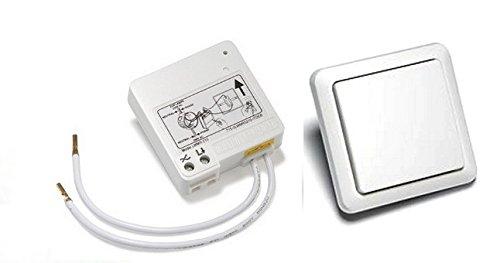 Webaso-Sparset-6: Funk-Wechselschaltung Intertechno ITL-230 Funk Schalter Modul Ein/Aus + Funk-Wandschalter jetzt mit Count-Down-Timer 5/30Sek.-2/10/30 Min.-1/3 Std. FUNK-Set