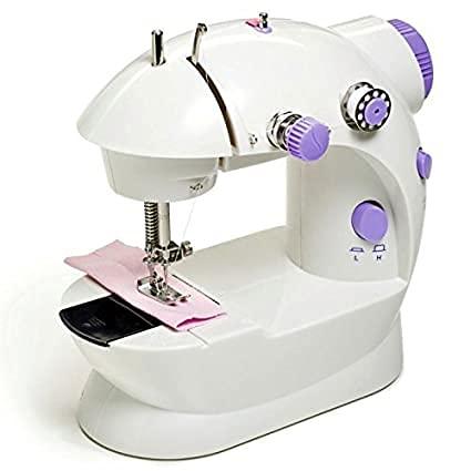 RD STAR Multi Electric Mini 4 in 1 Desktop Functional Household Sewing Machine, Mini Sewing Machine, Sewing Machine for Home Tailoring, Mini Sewing Machine for Home (Sewing Machine with Stand)