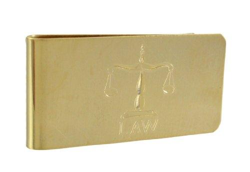 vergoldet geätzt Gesetz Waage Geld Clip