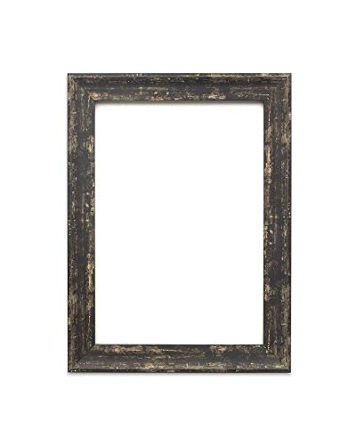 Paintings Frames Industrial Vintage looking Shabby Chic/Camouflage Picture/Photo/Poster frame - Moulding measures 32mm wide and 18mm deep - Spoon Black Distressed 24' x 36' Size