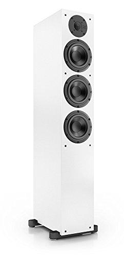 Nubert nuBox 513 Standlautsprecher | Lautsprecher für Stereo & Musikgenuss | Heimkino & HiFi Qualität auf hohem Niveau | Passive Standbox mit 2.5 Wege Technik | kompakte Standbox Weiß | 1 Stück