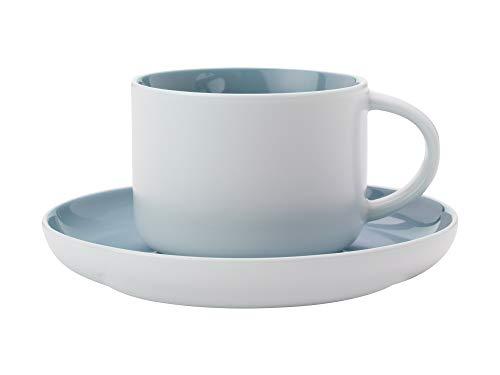 Maxwell Williams Tint Espressotasse und Untertasse in Geschenkbox, Porzellan, 100 ml, Wolkenblau, Volle Größe