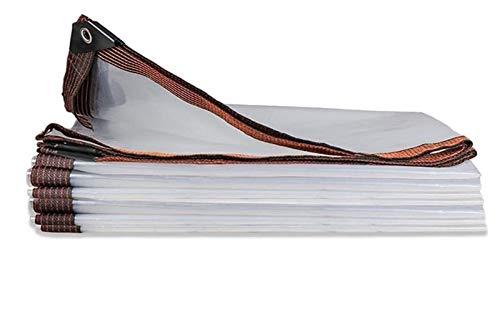 Transparente Plane Faltbar Pflanzendach Abdeckplane Transparente Gartenmöbel Oder Ähnliches Abzudecken, Größe Kann Angepasst Werden (Color : Transparent, Size : 5x5m)