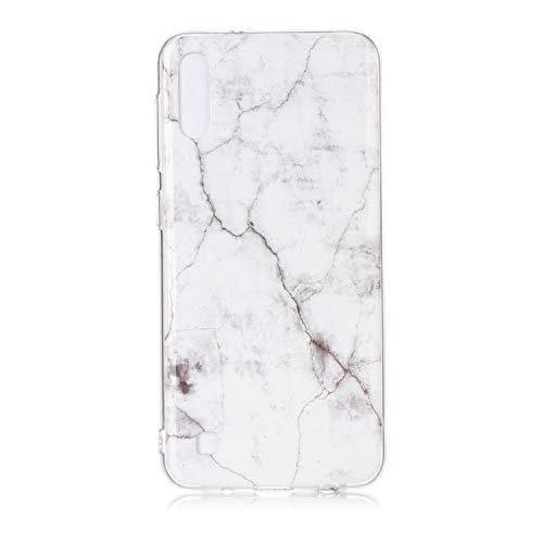 Homikon Silikon Hülle Marmor Muster TPU Handyhülle Ultra Dünn Matt Weiche Schutzhülle Stoßdämpfend Rückseite Soft Flexibel Tasche Case Cover Kompatibel mit Samsung Galaxy A10/M10 - Weiß