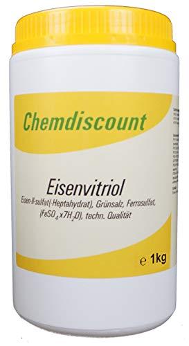 1kg Eisenvitriol (Grünsalz, Eisen2sulfat-Heptahydrat), techn. Qualität