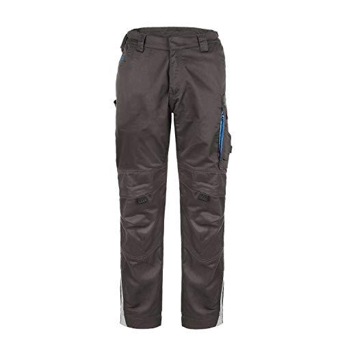 TMG - Pantaloni da lavoro da uomo con tasche imbottite sulle ginocchia e inserti catarifrangenti grigio. 62