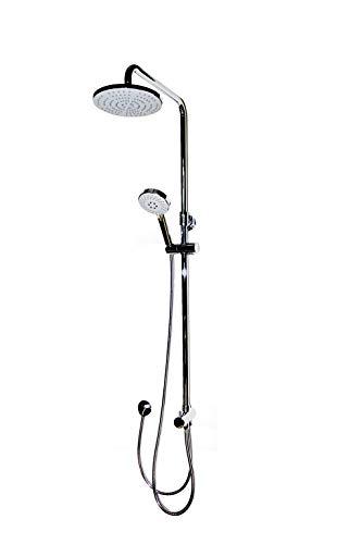 Duschsystem, Wellness Dusche Porto, höhenverstellbar, Messing verchromter Korpus, das Original von ADOB, 40062