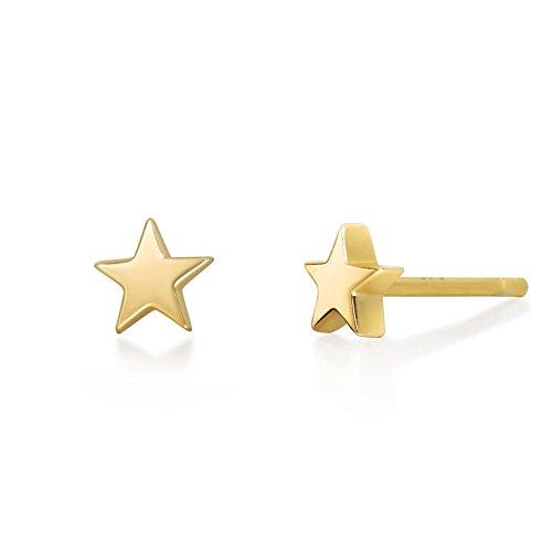 Gold Star Stud Earrings