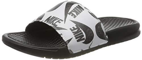 Nike Benassi JDI Print, Scarpe da Ginnastica Uomo, Black/Black/White, 40 EU