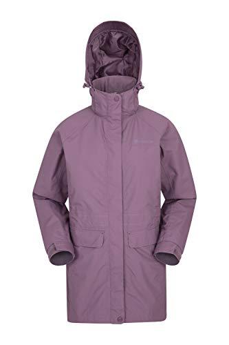 Mountain Warehouse Glacial waterdichte damesjas - warme, ademende vrijetijdsregenjas, verzegelde naden, afneembare capuchon - ideale wandelkleding voor dames, lente