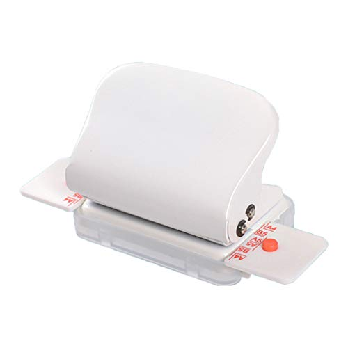 VIccoo - Perforatrice per fori, formato A4, B5, A5, 30/26/20 fori, per lavori fai da te, per scrapbooking, fai da te, colore: bianco