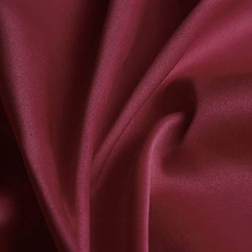 ZXC Tela De Raso Tela SatéN Vestidos Y Manualidades 150 cm De Ancho 1m Se Vende por Metros para Costura ElaboracióN De Ropa Ideal para Elaborar Vestidos para Bodas Graduaciones Raso(Color:Vino Tinto)