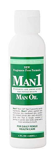 """""""Man1 Man Oil"""" 4 oz.- Natural Penile Health Cream - M.B. guarantee - Treat dry, red, cracked or peeling penile skin and increase penile sensitivity"""