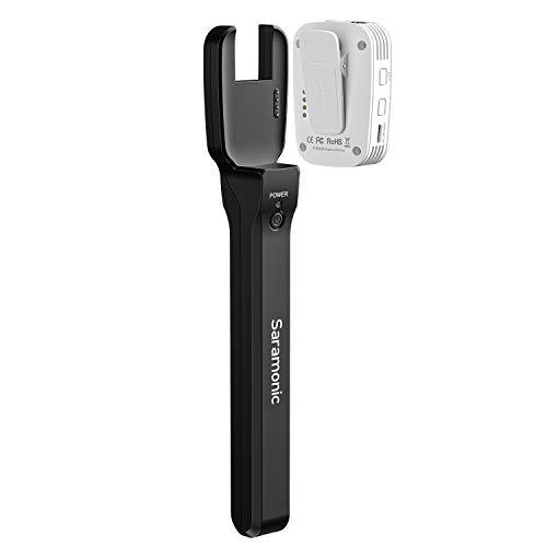 Wireless Handheld Microphone Holder, Saramonic Blink500 PRO HM Mic Stand for Blink500 PRO B1/B2/B3/B4/B5/B6 Transmitter Interview, Report Film, Stage, Speaker, Amplifier, Mixer, iPhone, Camera, Laptop