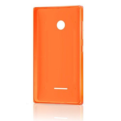 Microsoft Lumia Clip-On Shell Hülle Hülle Cover für Microsoft Lumia 435 - Orange