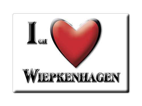 Enjoymagnets WIEPKENHAGEN (MV) Souvenir Deutschland Mecklenburg Vorpommern Fridge Magnet KÜHLSCHRANK Magnet ICH Liebe I Love