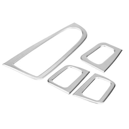 Qiilu, cubierta de interruptor de botón de elevación de ventana de coche, tira de ajuste, marco decorativo, cubierta de panel multimedia de plástico ABS para Mercedes Benz Clase C W205