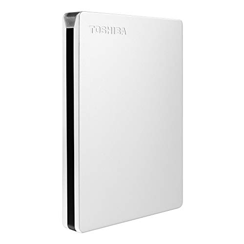 HD Externo Portátil Toshiba Canvio Slim 2TB Prata USB 3.0 - HDTD320XS3EA