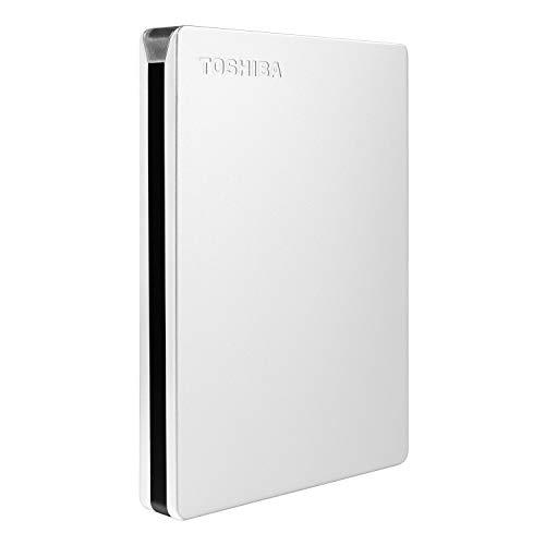 Toshiba Canvio Slim - Disco duro externo porttil (2 TB, USB 3.0, HDTD320XS3EA), color plateado