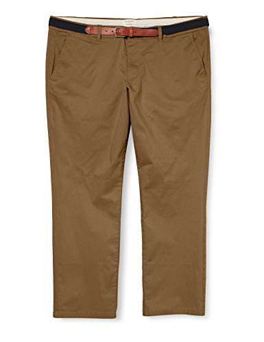 SELECTED HOMME Slhslim-Yard Pants W PS Pantaloni, Cammello Scuro, W46/L32 Uomo
