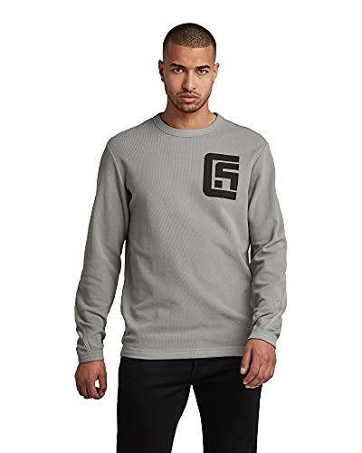 G-STAR RAW Mens Chest Graphic Tweeter Sweatshirt, Grey (Charcoal C814-942), XL