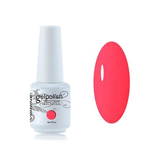 Vishine Vernis à ongles 8ml Semi-permanent Soak-off UV LED Nail Art Manucure Base Top Coat Firebrick #1557