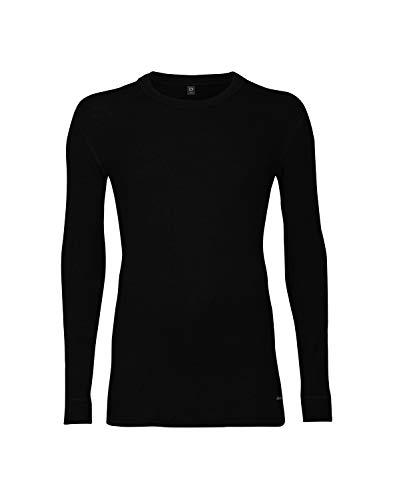Dilling Merino Langarmshirt für Herren - 100% Natürliche Bio-Merinowäsche Schwarz M