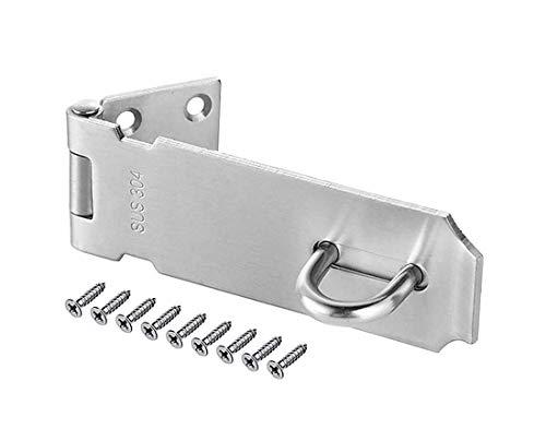 Repuhand Vorhängeschloss Tür Hasp Türschloss Sicherheits-Vorrichtung Edelstahl und 8x Schrauben für Schrank, Schublade, Schrank und mehr