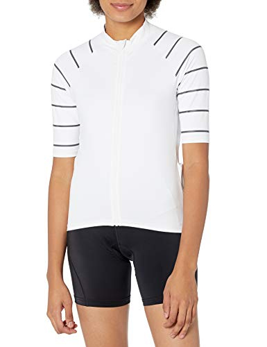 Amazon Essentials Short-Sleeve Cycling Jersey Hemd, Weiß, XS