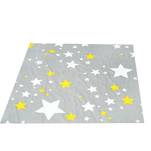 NIDONE 1 Pieza de algodón Cuna colchón de la Cama Crib Sheet Color de Dibujos Animados Fit colchón de la Cuna (Gris, con la Estrella 47. * 28 * 9 En)