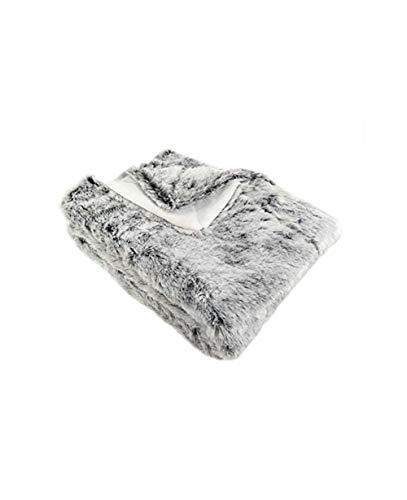 Enjoy Home P010GRF130160Decke aus Webpelz Bär, Polyester, dunkelgrau, 160x 130cm