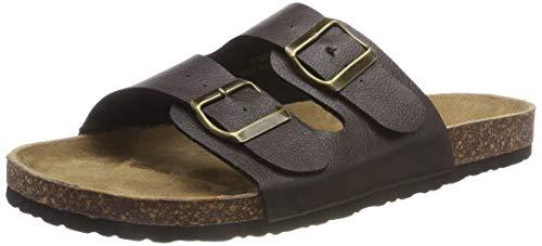 Burton Menswear London Stroll, Sandalias con Punta Abierta para Hombre, Marrón (Brown 160), 44 EU