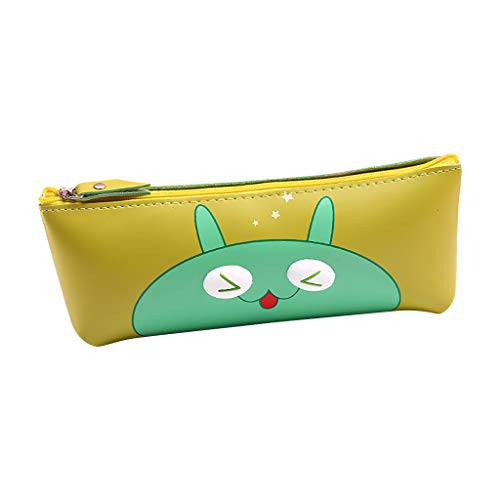 Fine Waterproof Cute Cute Eye Hand Holding Cartoon Stereo Pencil Case Stationery Bag,Makeup Tools Storage Printing Portable Waterproof Washable Travel Bags Pencil Pouch Holder (A)