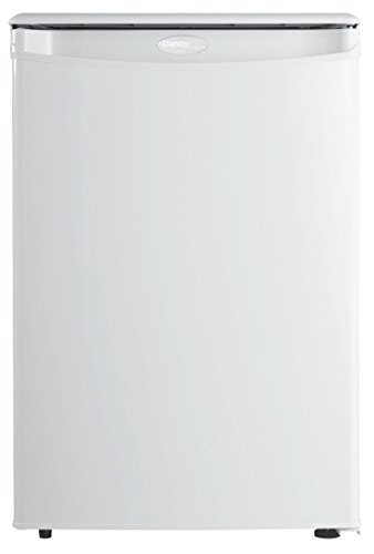 Danby Designer DAR026A1WDD-6 2.6 Cu.Ft. Mini Fridge, Compact Refrigerator for Bedroom, Office, bar, countertop, E-Star Rated in White