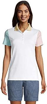 Lands' End Women's Supima Cotton Short Sleeve Polo Shirt