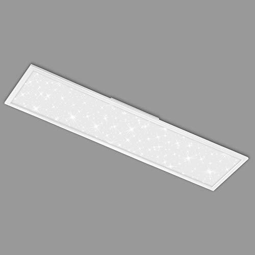 Briloner Leuchten - LED Panel, Deckenlampe inkl. Sternendekor, 4.100 Lumen, 4.000 Kelvin, 38 Watt, Weiß, 1.195x295x60mm (LxBxH), 7393-016