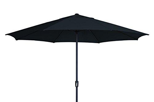 Madison XXL Kurbelschirm Sumatra 400 in schwarz mit UV-Schutz 40 Plus