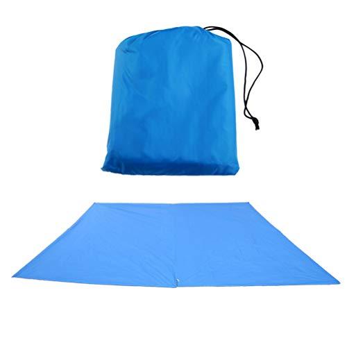 Yardwe Extérieur imperméable Pare-Soleil Tente Maison abri du Soleil abri pour Cour Camping Patio (Bleu)