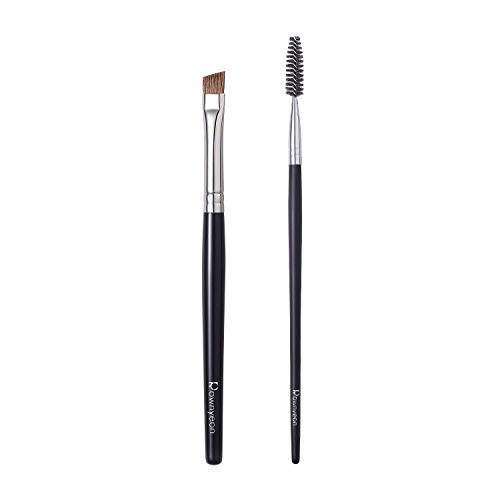 Angled Eyebrow Brush Brow brush with Spoolie Professional Brow Brush...