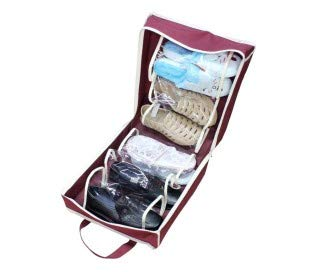 Zapatero de viaje portátil para 6 pares de zapatos