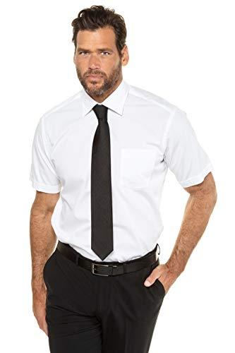 JP 1880 Homme Grandes Tailles Chemise Coton, Lot de 2, Manches Courtes Slim Noir, Blanc 5XL 702864 10-5XL