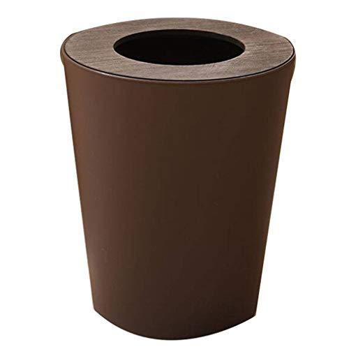 GOPG Redondo Cubo de Basura, Plástico con Tapa Durable Anil